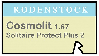 Rodenstock Cosmolit 1.67 Solitaire Protect Plus 2